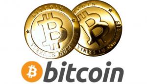 ビットコインのロゴとイメージ図